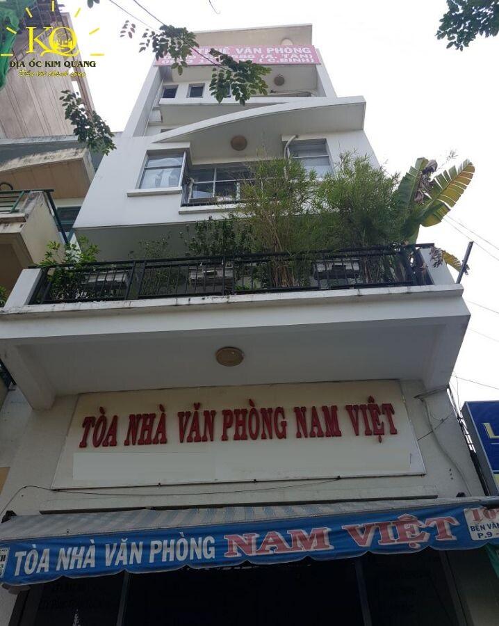 Ben ngoai toa nha Nam Viet Cho thuê văn phòng quận 4 tòa nhà Nam Việt giá ưu đãi tháng 3 2019