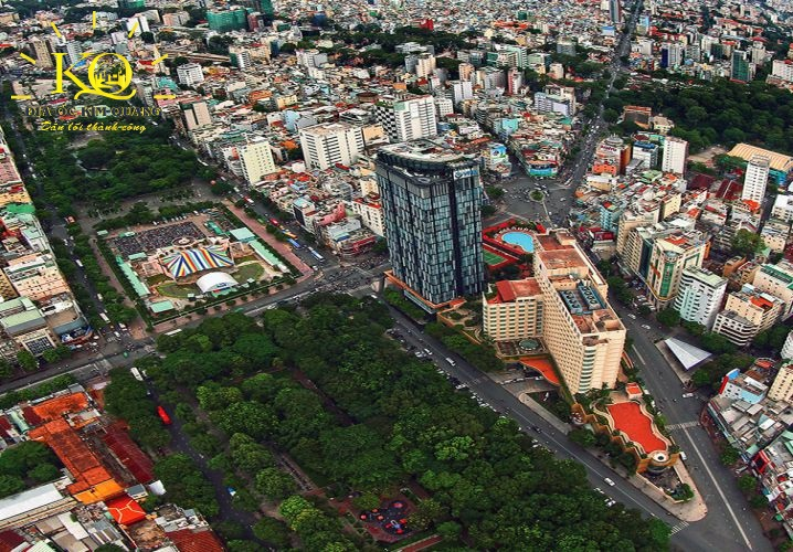 Hướng nhìn từ trên xuồng tòa nhà A&B Tower