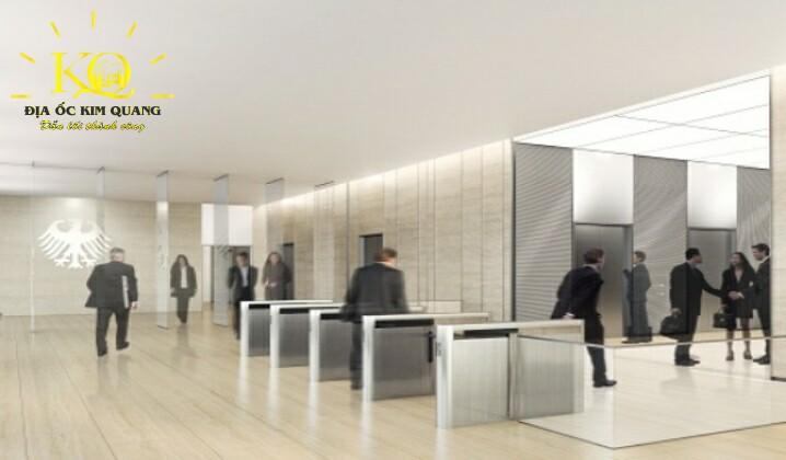 Hệ thống thang máy tại tòa nhà Deutsches Haus