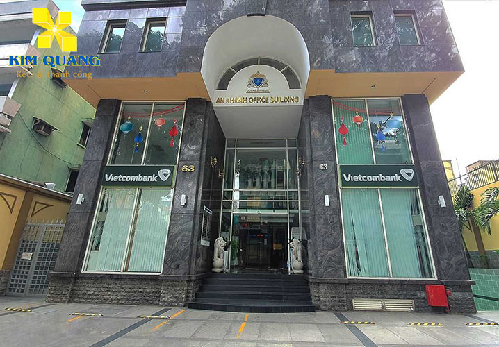 Phía trước tòa nhà An Khánh Office Building thông thoáng