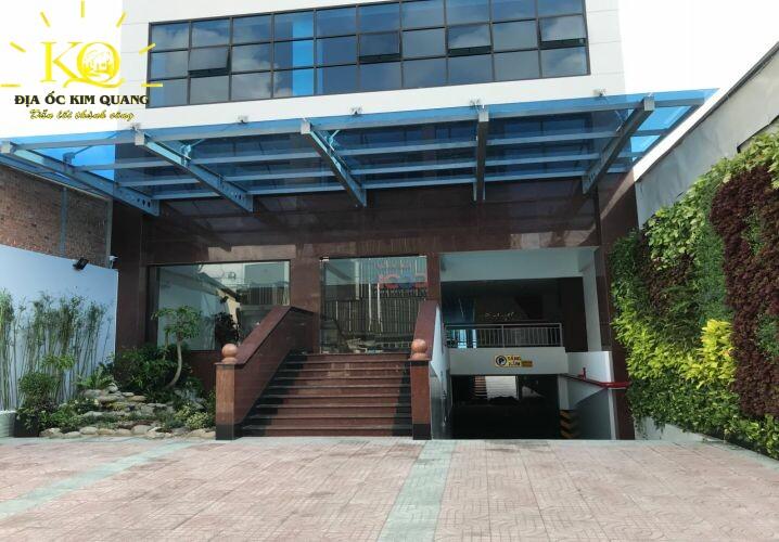 Cho thuê văn phòng quận Bình Thạnh B&L Tower khuôn viên phía trước  Địa ốc Kim Quang