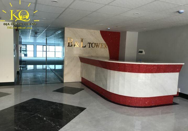 Cho thuê văn phòng quận Bình Thạnh B&L Tower quầy lễ tân  Địa ốc Kim Quang