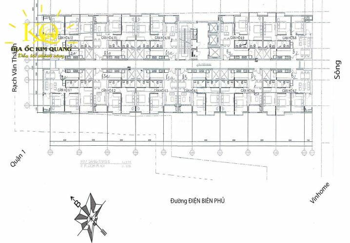 Layout cao ốc 152 Điện Biên Phủ