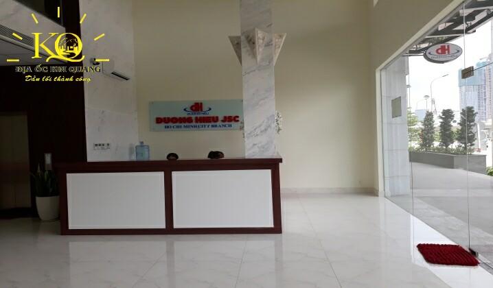 Khu vực lễ tân tòa nhà Saigon Pearl JSC