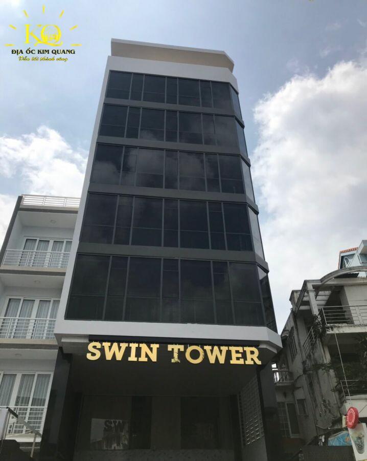 Cho thuê văn phòng quận Bình Thạnh Swin Tower tổng quan bên ngoài tòa nhà đẹp Địa ốc Kim Quang