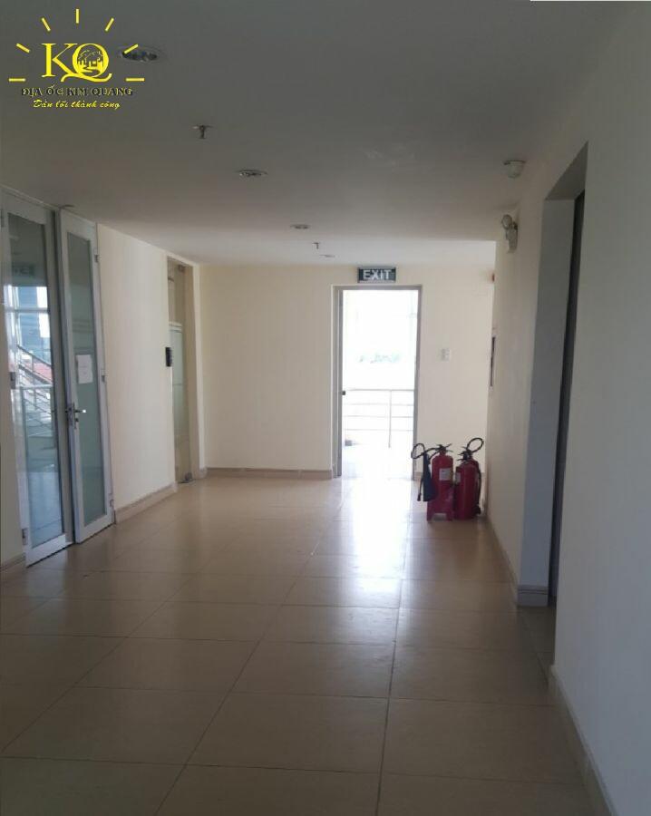 Cho thuê văn phòng quận Tân Bình Phúc An Building hành lang  Địa ốc Kim Quang