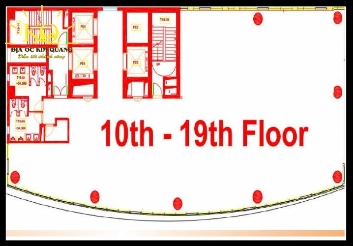 Layout lầu 10 tòa nhà The 67 Tower