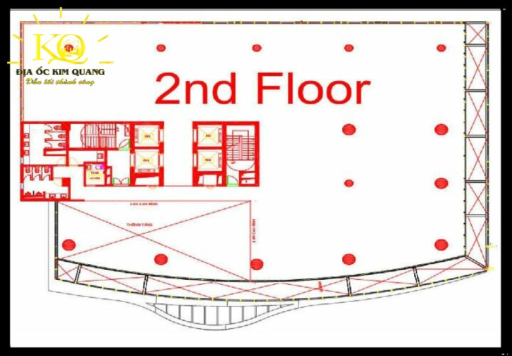 Layout lầu 2 tòa nhà The 67 Tower