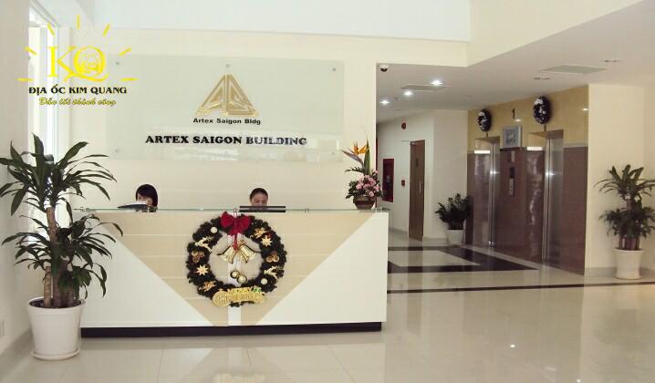 Quầy lễ tân tại tòa nhà Artex Saigon Building