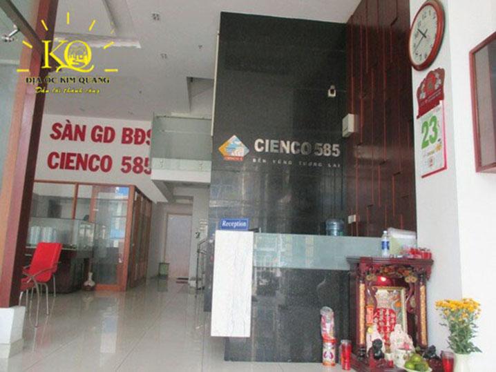 Quầy lễ tân tòa nhà Cienco Building
