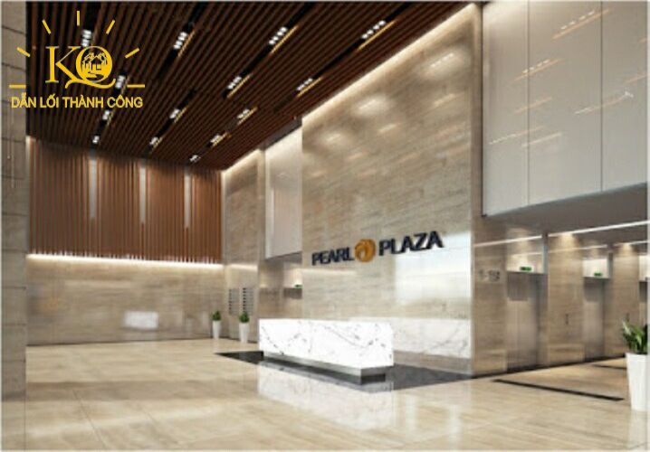 Địa ốc Kim Quang  Cho thuê văn phòng quận Bình Thạnh Pearl Plaza sảnh lễ tân