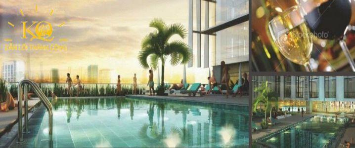 Địa ốc Kim Quang  Cho thuê văn phòng quận Bình Thạnh Pearl Plaza hình chụp hồ bơi đẹp