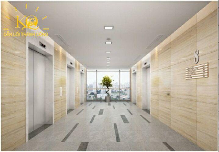 Địa ốc Kim Quang  Cho thuê văn phòng quận Bình Thạnh Pearl Plaza hành lang bên trong tòa nhà