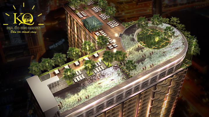 Phối cảnh sân thượng tòa nhà Terra Royal