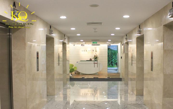 Hình chụp hệ thống thang máy bên trong tòa nhà cho thuê văn phòng quận 3 Centec Tower