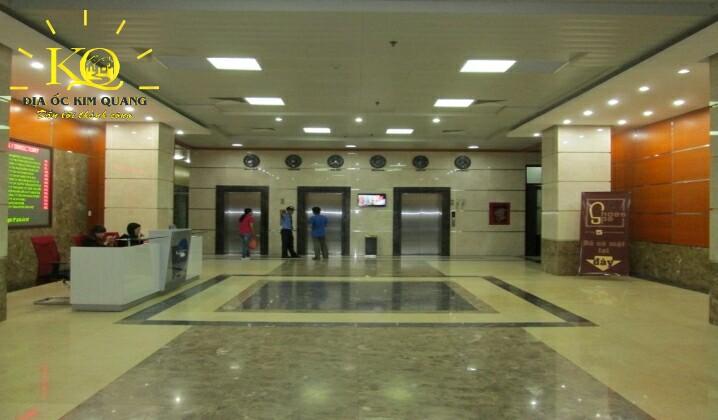 Địa ốc Kim Quang  Hệ thống thang máy của văn phòng trọn gói cho thuê Hải Âu Building và khu vực sảnh rộng rãi