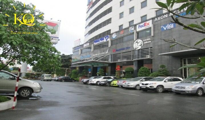 Địa ốc Kim Quang  Phía trước tòa nhà cho thuê văn phòng trọn gói Hải Âu Building