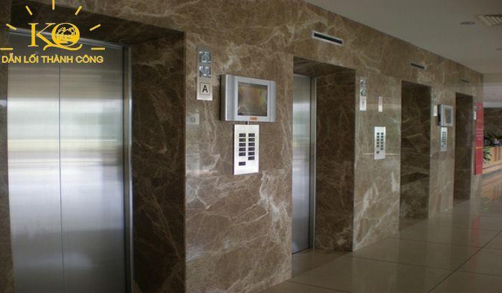 Hình chụp hệ thống thang máy