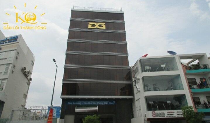 Toàn cảnh tòa nhà Golden Sea building, thiết kế đơn giản, chuẩn văn phòng